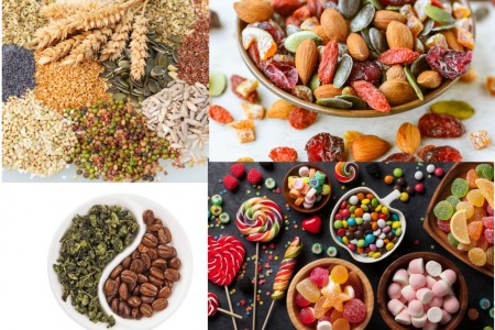 vrac-riz-pates-cereales-farine-legumineuse-fruits-seches-noix-cafe-the-bonbons-chocolats